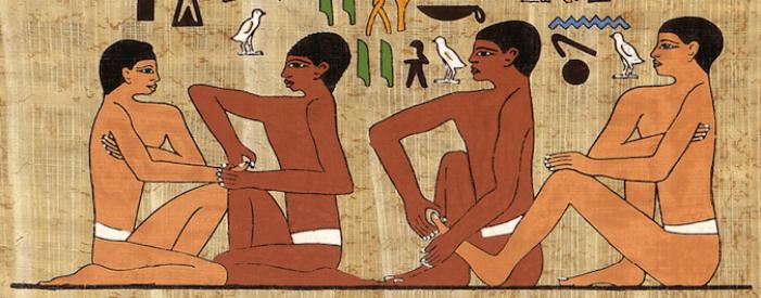 fresque égyptienne histoire réflexologie